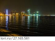 Купить «Night view of the city of Baku - the capital of the Republic of Azerbaijan», фото № 27165581, снято 23 сентября 2015 г. (c) Евгений Ткачёв / Фотобанк Лори