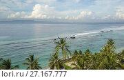 Купить «Panoramic aerial view from drone on sea, seashore, jungle and mountains, Bali, Indonesia», видеоролик № 27167777, снято 31 августа 2009 г. (c) Куликов Константин / Фотобанк Лори