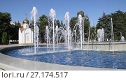Купить «Музыкальный фонтан в Анапе, Краснодарский край», видеоролик № 27174517, снято 5 августа 2017 г. (c) Олег Хархан / Фотобанк Лори