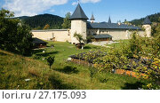 Image of Sucevita Monastery on Bucovina in Romania. (2017 год). Стоковое видео, видеограф Яков Филимонов / Фотобанк Лори