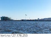 The largest flag in the world. Baku, Azerbaijan (2015 год). Стоковое фото, фотограф Евгений Ткачёв / Фотобанк Лори