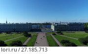 Купить «St. Petersburg ,Russia -June 4. 2017. View from top of Mars Field and Troitsky Bridge across Neva river», видеоролик № 27185713, снято 22 октября 2019 г. (c) Володина Ольга / Фотобанк Лори