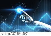 Купить «robot hand over black background», иллюстрация № 27194597 (c) Syda Productions / Фотобанк Лори
