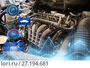 Купить «car engine close up», фото № 27194681, снято 1 июля 2016 г. (c) Syda Productions / Фотобанк Лори