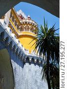 Купить «The Pena Palace. Sintra. Portugal», фото № 27195277, снято 3 июля 2016 г. (c) Serg Zastavkin / Фотобанк Лори