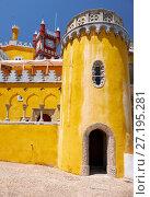 Купить «The Pena Palace. Sintra. Portugal», фото № 27195281, снято 3 июля 2016 г. (c) Serg Zastavkin / Фотобанк Лори