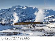Купить «Мутновская геотермальная электростанция на Камчатке», фото № 27198665, снято 22 октября 2017 г. (c) А. А. Пирагис / Фотобанк Лори