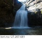 Купить «Pure mountain waterfall Cantonigros», фото № 27207681, снято 26 марта 2017 г. (c) Яков Филимонов / Фотобанк Лори