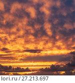 Купить «Sky with clouds at sunset», фото № 27213697, снято 20 сентября 2012 г. (c) Argument / Фотобанк Лори