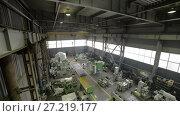 Купить «Manufacture of metalworking machines», видеоролик № 27219177, снято 15 июня 2017 г. (c) Андрей Радченко / Фотобанк Лори