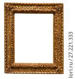 Купить «retro golden rectangular frame for photography on isolated background», фото № 27221333, снято 10 декабря 2016 г. (c) Татьяна Яцевич / Фотобанк Лори