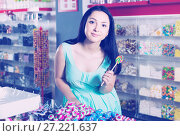 Portrait of sexy young girl with lollipop. Стоковое фото, фотограф Яков Филимонов / Фотобанк Лори