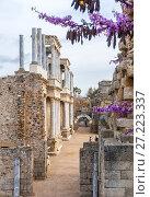 Купить «Roman Theatre. Mérida. Badajoz. Extremadura. Spain.», фото № 27223337, снято 21 марта 2017 г. (c) age Fotostock / Фотобанк Лори