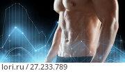 Купить «close up of man or bodybuilder with bare torso», фото № 27233789, снято 2 июля 2017 г. (c) Syda Productions / Фотобанк Лори