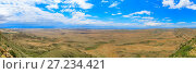 Купить «Panoramic view of the highland valley», фото № 27234421, снято 14 декабря 2018 г. (c) Mikhail Starodubov / Фотобанк Лори