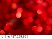 Купить «Abstract bokeh background red color», фото № 27238861, снято 25 ноября 2017 г. (c) Юлия Бабкина / Фотобанк Лори