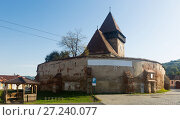 Купить «Church Fortification in Axente Sever is landmark of Transilvania», фото № 27240077, снято 17 сентября 2017 г. (c) Яков Филимонов / Фотобанк Лори
