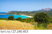 Купить «Summer coastal landscape of Corsica», фото № 27240453, снято 5 июля 2015 г. (c) EugeneSergeev / Фотобанк Лори