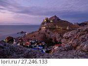 Купить «Генуэзская крепость в городе Судак, Крым», фото № 27246133, снято 8 октября 2017 г. (c) Евгений Прокофьев / Фотобанк Лори
