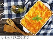 Купить «italian lasagna layered with pasta sheets», фото № 27255313, снято 19 ноября 2017 г. (c) Oksana Zhupanova / Фотобанк Лори
