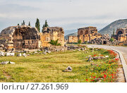 Купить «Иераполь — античный город. Иераполис, Турция.», фото № 27261969, снято 8 мая 2015 г. (c) Сергей Афанасьев / Фотобанк Лори