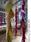 Austria, Vienna, Museum for Applied Arts, MAK, display of designer fabrics. (2016 год). Редакционное фото, фотограф Walter Bibikow / age Fotostock / Фотобанк Лори