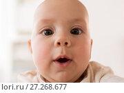 Купить «close up of happy little baby boy face», фото № 27268677, снято 29 сентября 2017 г. (c) Syda Productions / Фотобанк Лори