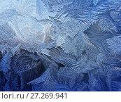 Купить «Frosty natural pattern at a winter», фото № 27269941, снято 24 января 2016 г. (c) ElenArt / Фотобанк Лори