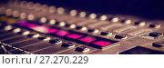 Купить «Close-up of sound mixer in studio», фото № 27270229, снято 28 февраля 2020 г. (c) Wavebreak Media / Фотобанк Лори