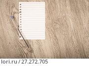 Купить «Empty torn page», фото № 27272705, снято 21 сентября 2018 г. (c) Яков Филимонов / Фотобанк Лори