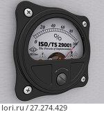 Купить «ISO/TS 29001. The percent of implementation», иллюстрация № 27274429 (c) WalDeMarus / Фотобанк Лори