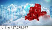 Купить «Composite image of vector icon of percentage symbol», фото № 27278677, снято 5 апреля 2020 г. (c) Wavebreak Media / Фотобанк Лори