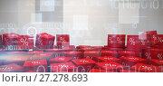 Купить «Composite image of vector icon of percentage symbol», фото № 27278693, снято 5 апреля 2020 г. (c) Wavebreak Media / Фотобанк Лори