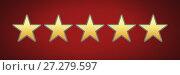 Купить «five star rating review», фото № 27279597, снято 19 января 2020 г. (c) Wavebreak Media / Фотобанк Лори