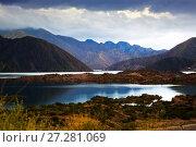 Купить «Lake near Potrerillos, RN 7, Andes, Argentina», фото № 27281069, снято 10 февраля 2017 г. (c) Яков Филимонов / Фотобанк Лори