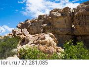 Купить «Formations of stones in Ischigualasto Park», фото № 27281085, снято 13 февраля 2017 г. (c) Яков Филимонов / Фотобанк Лори