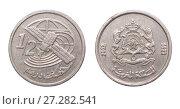 Купить «Coin half a dirham. Morocco. year 2002», фото № 27282541, снято 22 января 2016 г. (c) Евгений Ткачёв / Фотобанк Лори