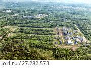 Купить «Urban panorama aerial view. Pipe Metallurgical Plant», фото № 27282573, снято 16 июня 2017 г. (c) Евгений Ткачёв / Фотобанк Лори