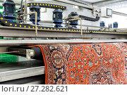 Купить «Automatic washing and cleaning of carpets. Industrial line for washing carpets», фото № 27282621, снято 19 июня 2017 г. (c) Евгений Ткачёв / Фотобанк Лори
