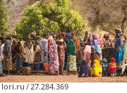 Купить «Ouled Rachid tribeswomen gathered to collect water from well, water is drawn from a communal well each day, village of Bon. Zakouma National Park, Chad, 2010.», фото № 27284369, снято 23 мая 2018 г. (c) Nature Picture Library / Фотобанк Лори