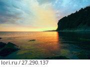 Купить «Evening landscape of the sea», фото № 27290137, снято 18 июня 2017 г. (c) Алексей Маринченко / Фотобанк Лори