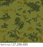 Купить «Seamless camouflage of pixel pattern», иллюстрация № 27298685 (c) Сергей Лаврентьев / Фотобанк Лори