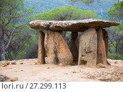 Купить «Dolmen de Pedra Gentil», фото № 27299113, снято 9 октября 2016 г. (c) Яков Филимонов / Фотобанк Лори