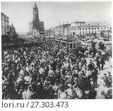 Купить «Москва, Сухаревский рынок.1923», фото № 27303473, снято 6 апреля 2020 г. (c) Retro / Фотобанк Лори