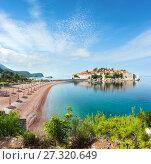 Купить «Sveti Stefan sea islet (Montenegro).», фото № 27320649, снято 17 июня 2019 г. (c) Юрий Брыкайло / Фотобанк Лори