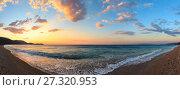 Купить «Summer sunset beach (Albania).», фото № 27320953, снято 19 октября 2018 г. (c) Юрий Брыкайло / Фотобанк Лори