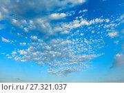 Купить «Blue sky background.», фото № 27321037, снято 11 июня 2017 г. (c) Юрий Брыкайло / Фотобанк Лори