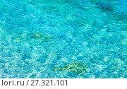 Купить «Sea flowing water surface», фото № 27321101, снято 17 июня 2017 г. (c) Юрий Брыкайло / Фотобанк Лори