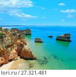 Algarve beach Dos Tres Irmaos (Portugal). (2016 год). Стоковое фото, фотограф Юрий Брыкайло / Фотобанк Лори
