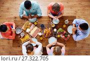 Купить «group of people at table praying before meal», фото № 27322705, снято 5 октября 2017 г. (c) Syda Productions / Фотобанк Лори
